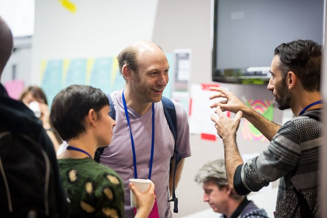 Participants in discussion at MozFest