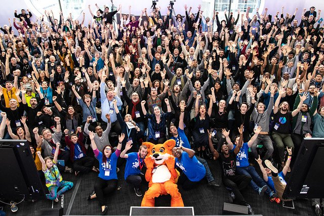 the crowd at MozFest 2018