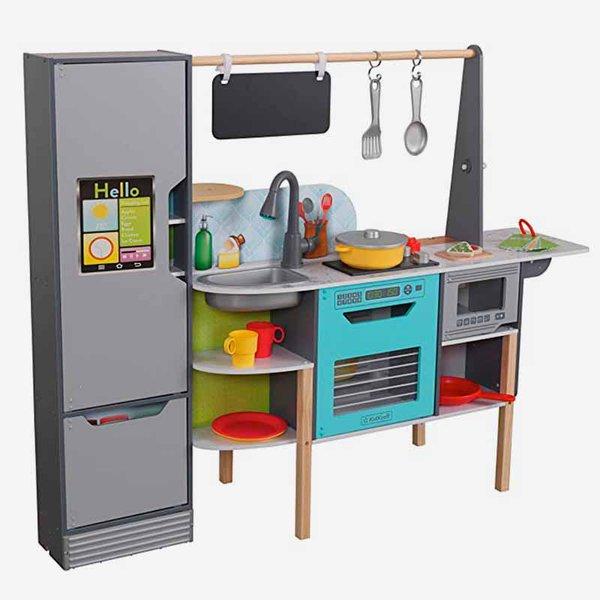 link to KidKraft Amazon Alexa 2-in-1 Kitchen & Market