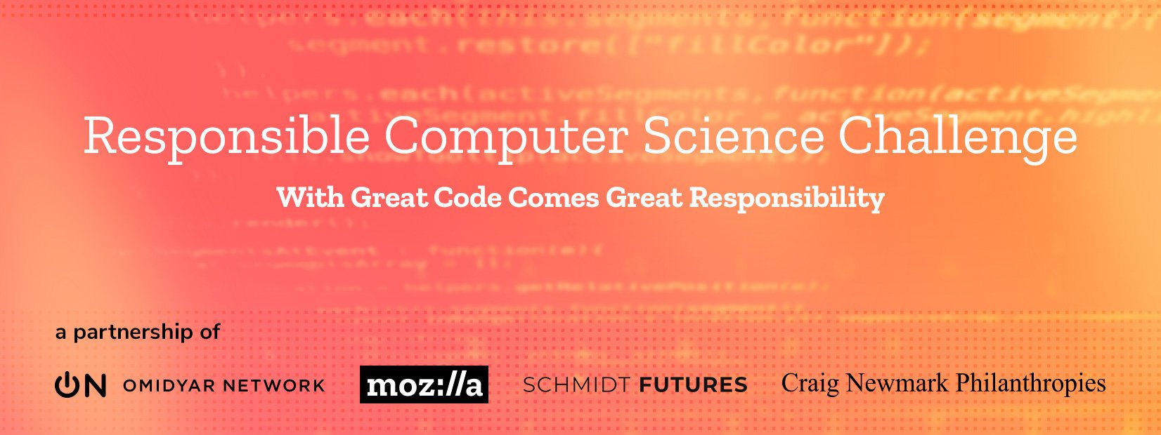 Responsible Computer Science Challenge banner with logos